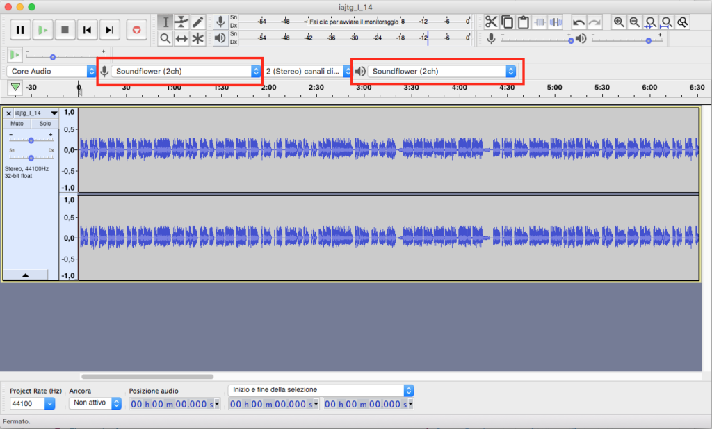 convertire audio in testo con mac